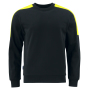 Projob 2125 SWEATSHIRT BLACK/YELLOW XL